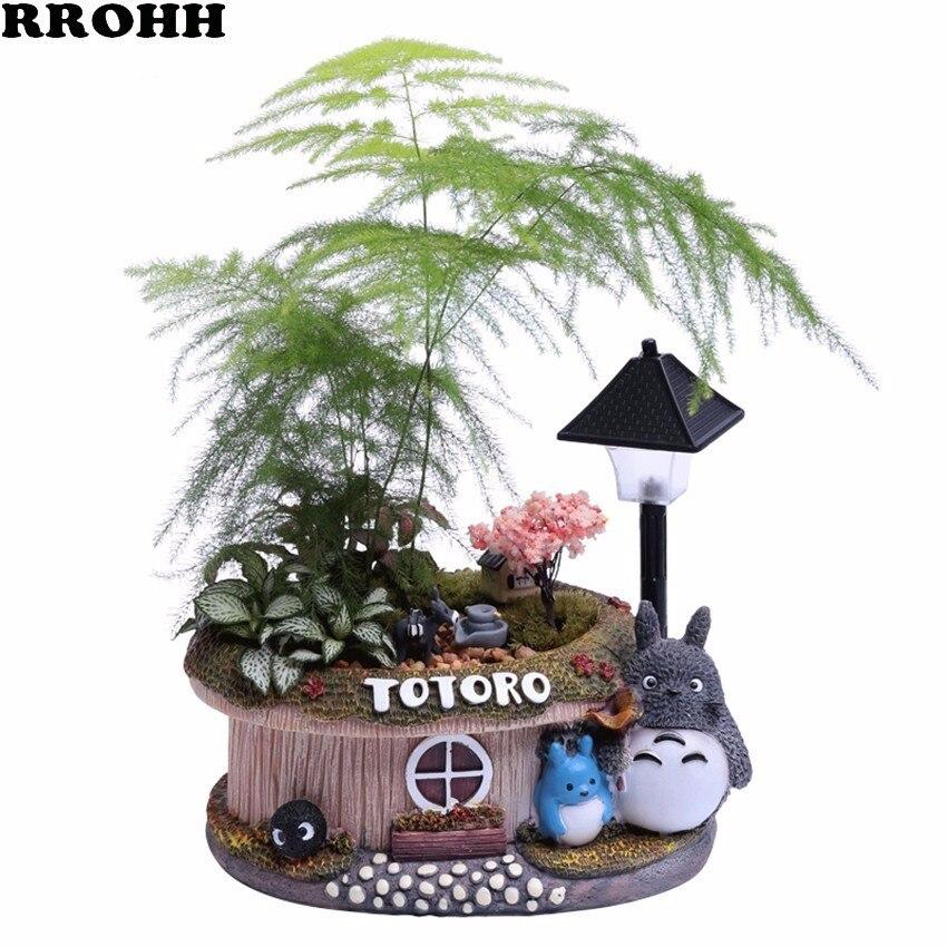 1 шт. цветочный горшок с изображением дерева Фортуны светильник маленький бонсай