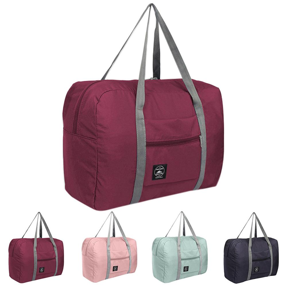 Wasserdicht Nylon Reisetaschen Frauen Männer Große Kapazität Klapp Duffle Tasche Organizer Verpackung Würfel Gepäck Mädchen Wochenende Tasche #0611