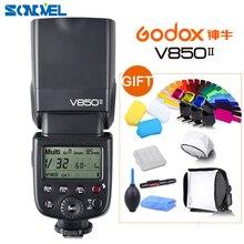 Godox V850II GN60 2.4G sans fil X système Speedlite Li-ion batterie Flash lumière avec chargeur pour Canon Nikon Sony Fujifilm Olympus