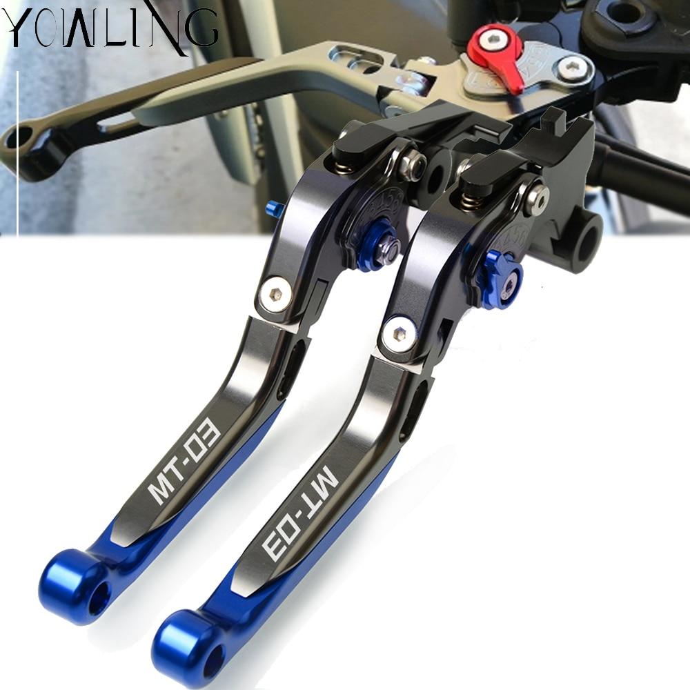Palancas de manillar extensibles plegables ajustables para freno de motocicleta palanca de embrague para YAMAHA MT-03 MT03 MT 03 2005 2006