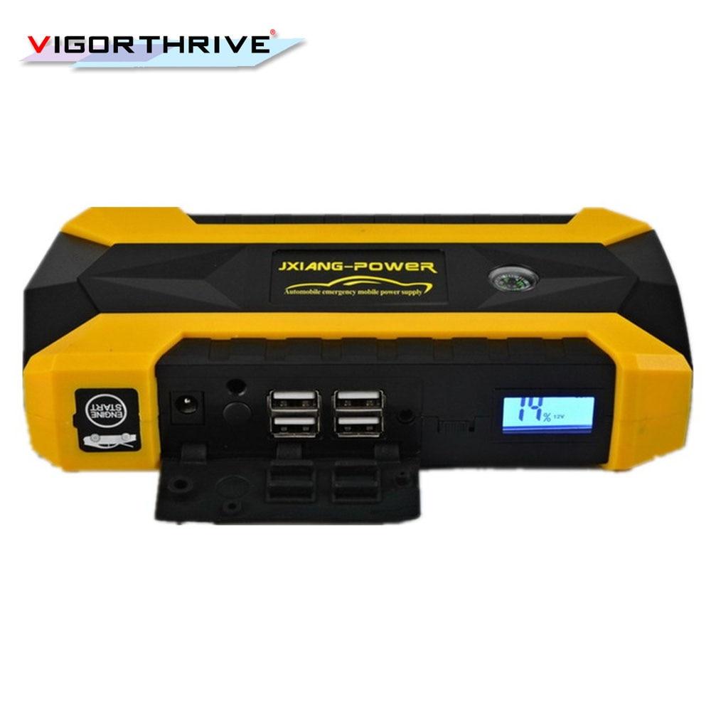 Arrancador de batería de coche portátil multifunción banco de energía emergencia Auto batería Booster Pack vehículo Jump Starter