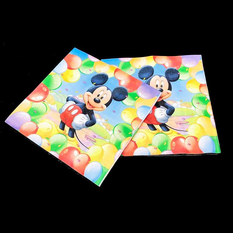 20 unids/pack Tema de Mickey Mouse pañales desechables Mickey Mouse decoraciones de fiesta de Mickey Mouse vajilla desechable