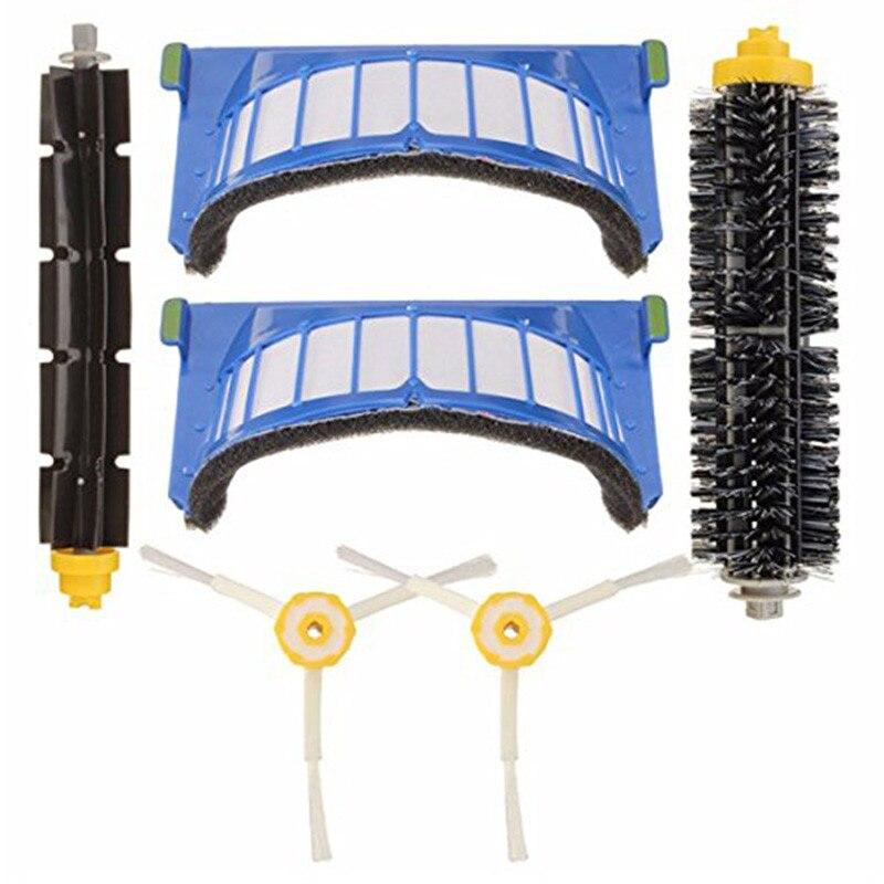 Di ricambio di Vuoto di Ricambio Per Irobot Roomba Serie 600 Vacuum Cleaner 1 * pennello + 1 * Beater Pennelli + 2 * Spazzole laterali + 2 * Filtri