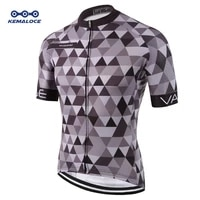 kemaloce classic pro tour tight men cycling jersey breathable dye sublimated race cycling clothing reflective grey pro bike wear