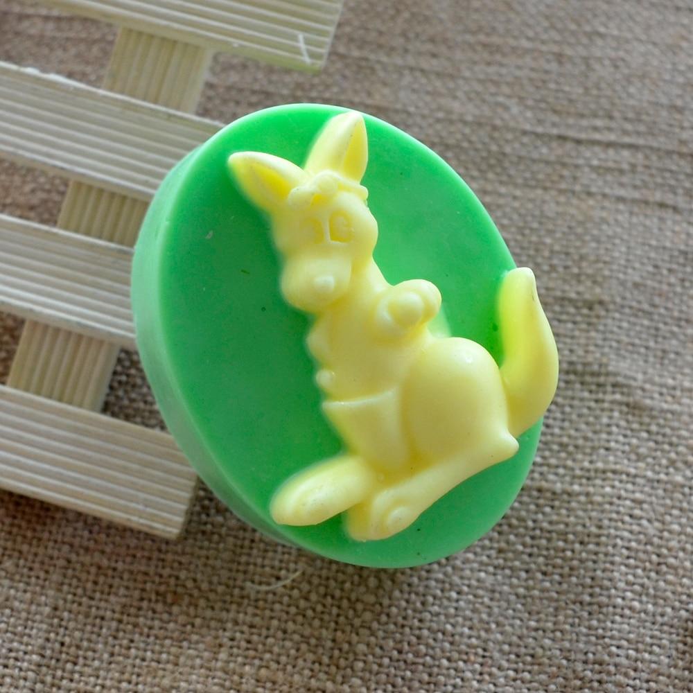 Nicole Silicone Soap Mold Ellipse Kangaroo Handmade Soap Making Tool