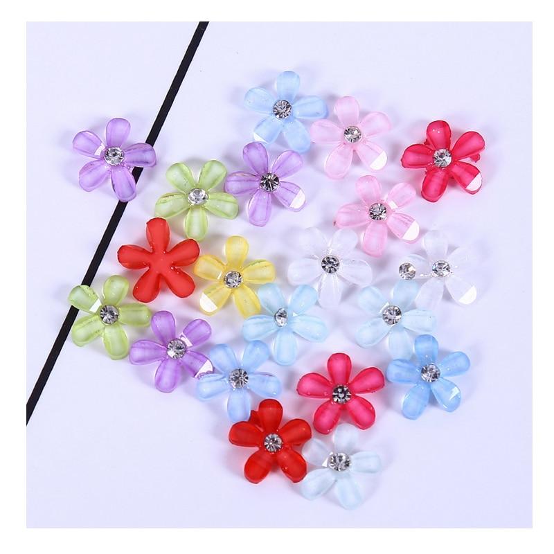 CCINEE 20 piezas resina flor para DIY Micro paisaje Material Resina Accesorios