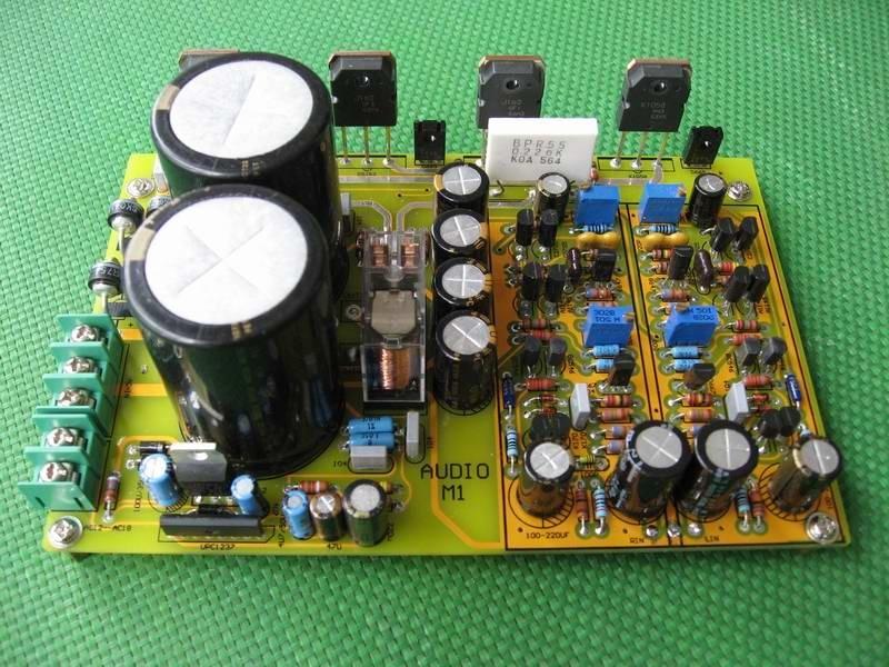 M1-MOS FET 120 W + 120 W 2SK1058 2SJ62 Verstärker kit