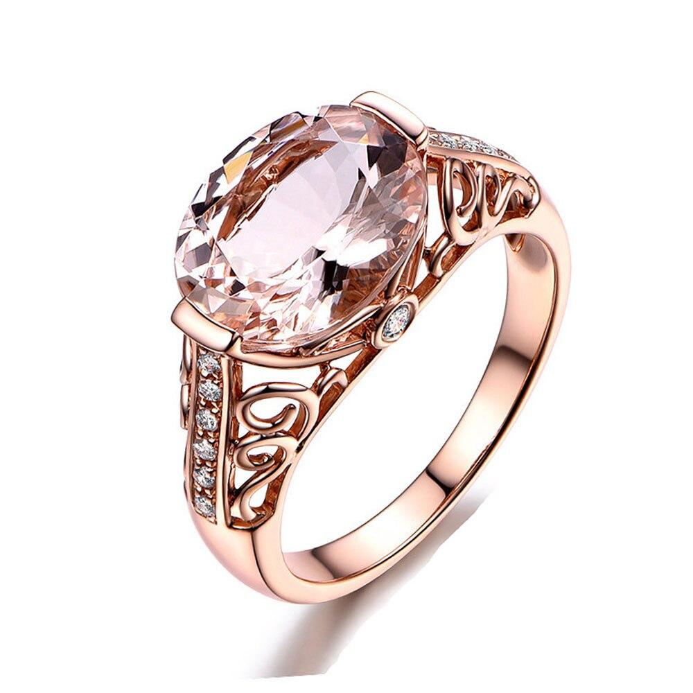 Joyería para mujeres de alta calidad 2020 anillo de oro rosa temperamento elegante nueva marca de alta calidad anillos de boda Dropship #5