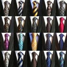 HOOYI Tie Mens Ties for Men Party Floral Neckties Plaid Business Stripe 8cm Mariage Christmas Gravat