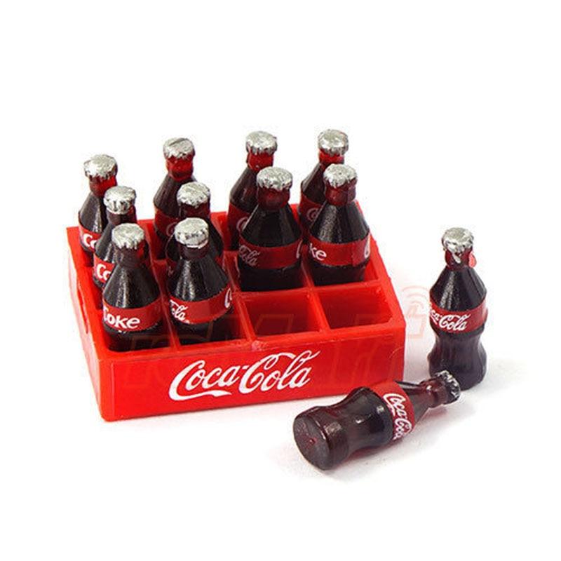RC Mini botella de coque y decoración de la bandeja accesorios herramientas para 1/10 coche trepador de control remoto Axial SCX10 TRAXXAS TRX4 RC4WD D90 TF2 Tamiya CC01