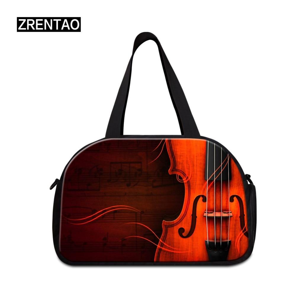 ZRENTAO музыкальные хлопковые дорожные сумки новые модные дорожные спортивные сумки вместительные мамочки с карманом для обуви и выходных