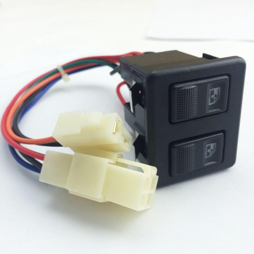 Interrupteur de vitres de voiture DC12V 20A   Pour vieux jetta FAW-Volkswagen Santana interrupteur de levage simple/double
