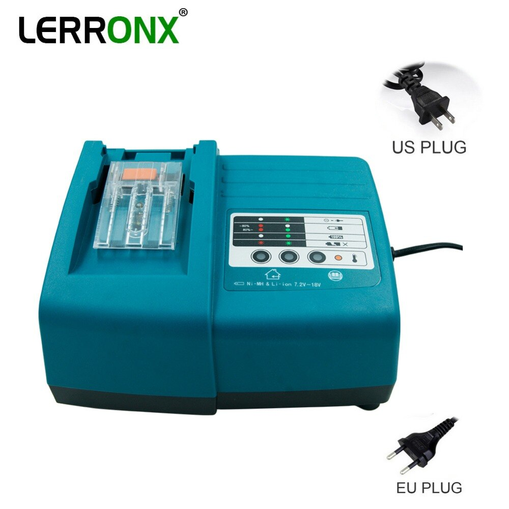Литий-ионная аккумуляторная батарея зарядное устройство DC18RC DC18RA для Makita 14,4 V 18V электроинструменты батареи BL1815 BL1830 BL1840 BL1415 BL1430