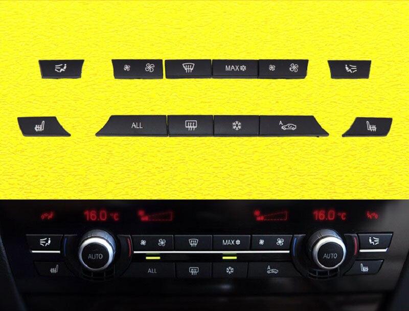 Reemplazo de la cubierta del botón del ventilador del interruptor del aire acondicionado del volumen del viento del Control del clima del coche para BMW F10 F11 F02 F06 F07 F18