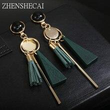 New Design black green Colors Drop Earrings Bohemia style Plastic long Tassel Earrings for Women ear jewelry accessories