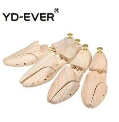 YD-EVER twin tubo sapatos última nova zelândia pinho madeira ajustável sapato shaper masculino sapato árvore