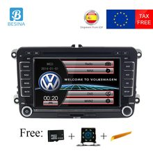 Besina 7 Inch 2 din Car DVD player for Volkswagen VW Volkswagen Passat POLO GOLF Skoda Seat Leon GPS Navigation radio stereo USB
