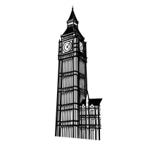 Big Ben London Clock Vinyl Wall Art Sticker Travel Landmarks Decal For Living Room Decoration Interior Fashion Mural Home Decor