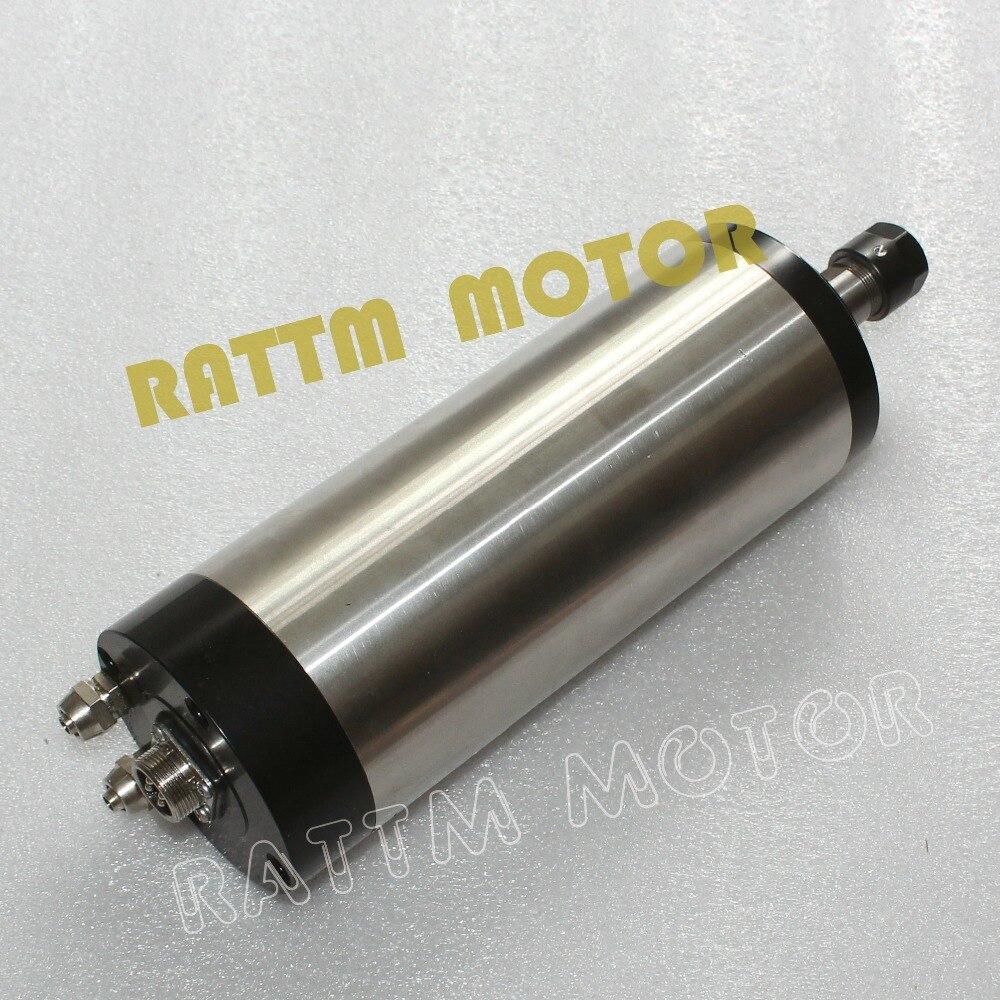 MOTOR de eje de CNC 1,5 kW MOTOR de eje ER16 refrigerado por agua 220V 24000rpm 400Hz para fresadora CNC fresadora de grabado