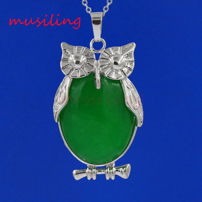 Varios colgantes de cuentas de piedra Natural Animal búho Reiki péndulo amuleto bruja Wicca moda mezcla de joyas orden 13X