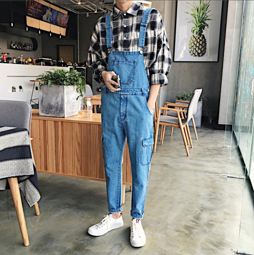 بنطلون جينز ربيعي للرجال ، موضة غير رسمية ، مريلة ، أحزمة سباغيتي ، ملابس ، بنطلون كارغو ، بنطلون مصفف شعر ، 2021