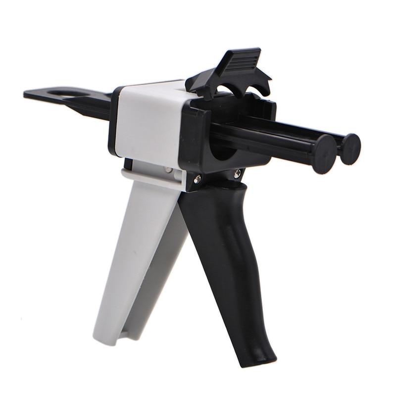 Impresión Dental dispensación de mezcla Universal de arma 11/12 dispensador de cartuchos de 50ml de silicona de goma dispensador de arma 101