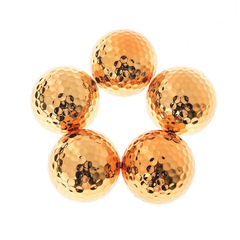 Elegante objetivo de apertura de partido mejor regalo construcción duradera para eventos deportivos nuevo chapado pelota de Golf de alta calidad 1/2 uds
