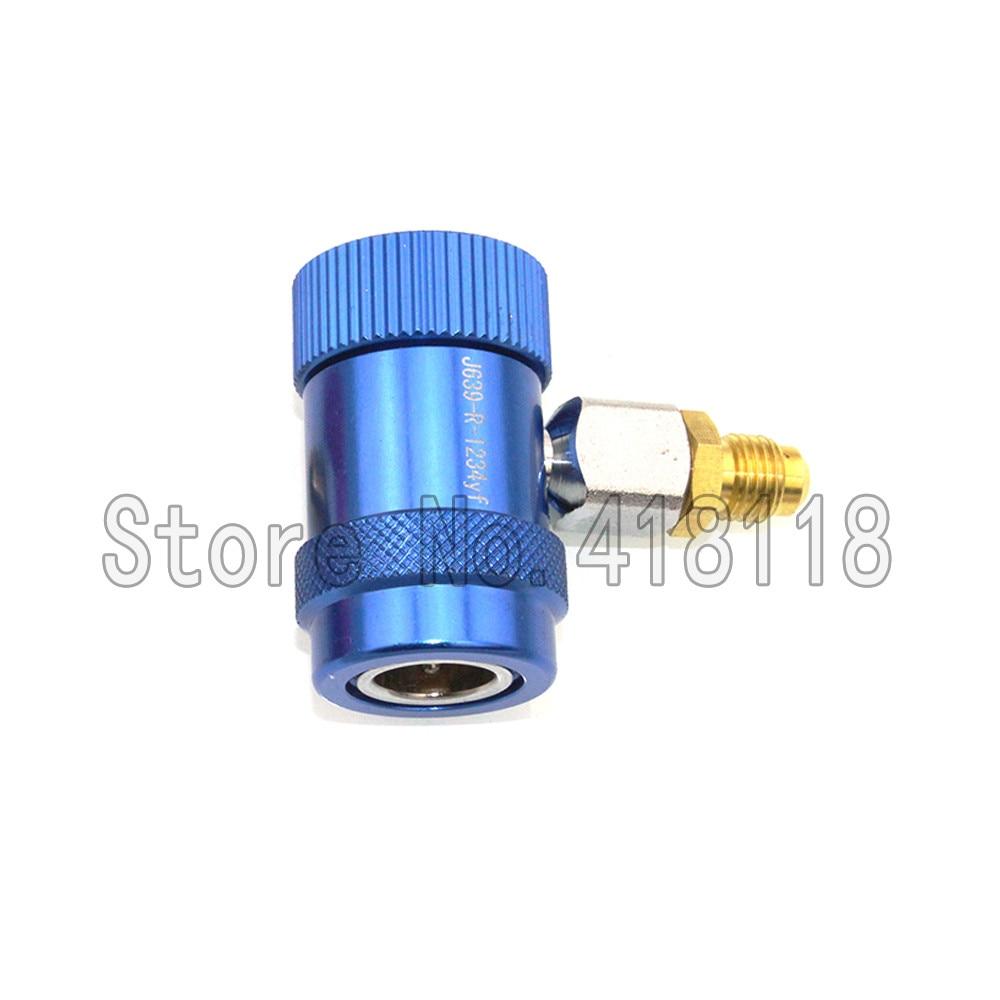 Adaptateur à connecteur rapide R1234yf laiton + métal   Climatiseur, adaptateur réfrigérant pour systèmes de réfrigération AR fluorure
