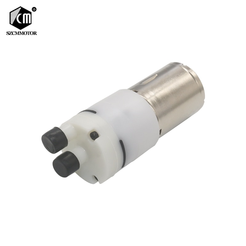 12VDC pequeña bomba de agua flujo de agua 0,6-0.9L/min para beber DIY miniatura hidráulica KLC bomba de diafragma bombas de vacío sin aceite