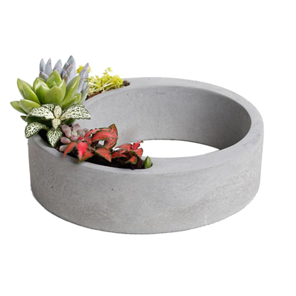 Moldes de Silicone em Forma de Cimento Decoração para Casa Molde de Silicone Flowerpot Moldes Concreto Plantador Palete Oco