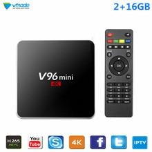 Vmade Google TV Box V96 2G 16GB Smart Android 7.1 TV Box Allwinner H3 Quad Core 1.5GHz WiFi Netflix IPTV Media Player Receiver