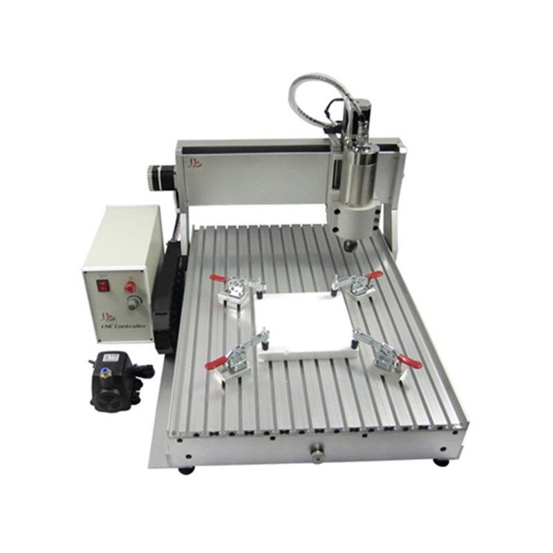 Máquina de Gravura Eixos de Metal Máquina de Corte Roteador Fresadora 2200w Eixo 3 Madeira 4 Bola Parafuso Usb Cnc 6090