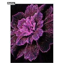 Diamant broderie fleur 5D bricolage diamant peinture point de croix ensemble artisanat pleine mosaïque perceuse collée couture décorative