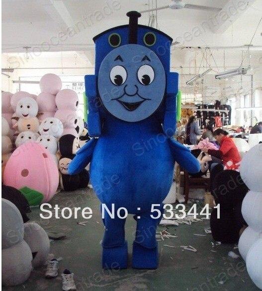 Thomas the Tank Engine Railway Train Mascot Plush Costume Adult Tamanho Fancy Dress Suit Frete Grátis