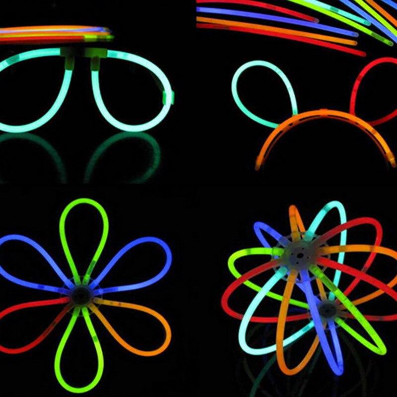 Superventas 100 unids/set barras brillantes pulsera collares juguetes luminosos neón fiesta luces Premium fiesta favores para niños