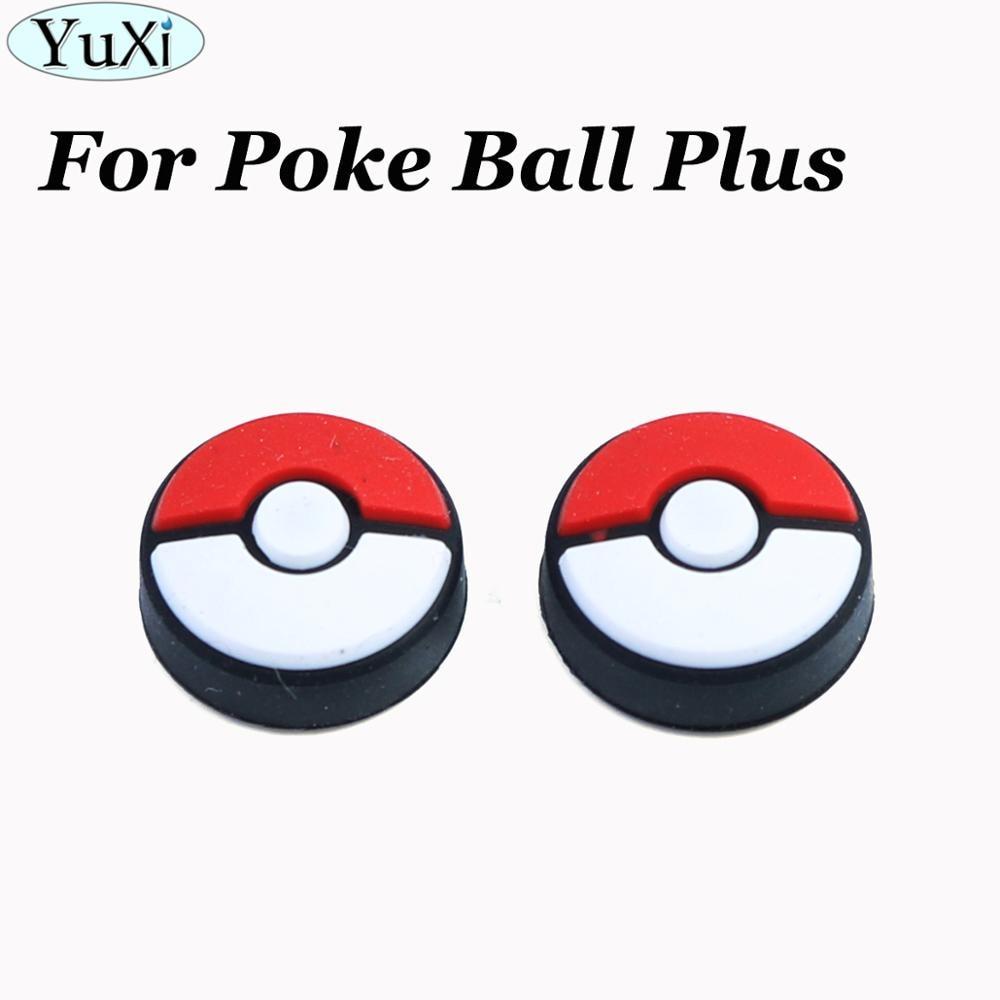 YuXi 2X de silicona analógico tapas de palancas de pulgar para Nintend interruptor 6 juegos para Poke Bola más ir a juegos de controlador de accesorios