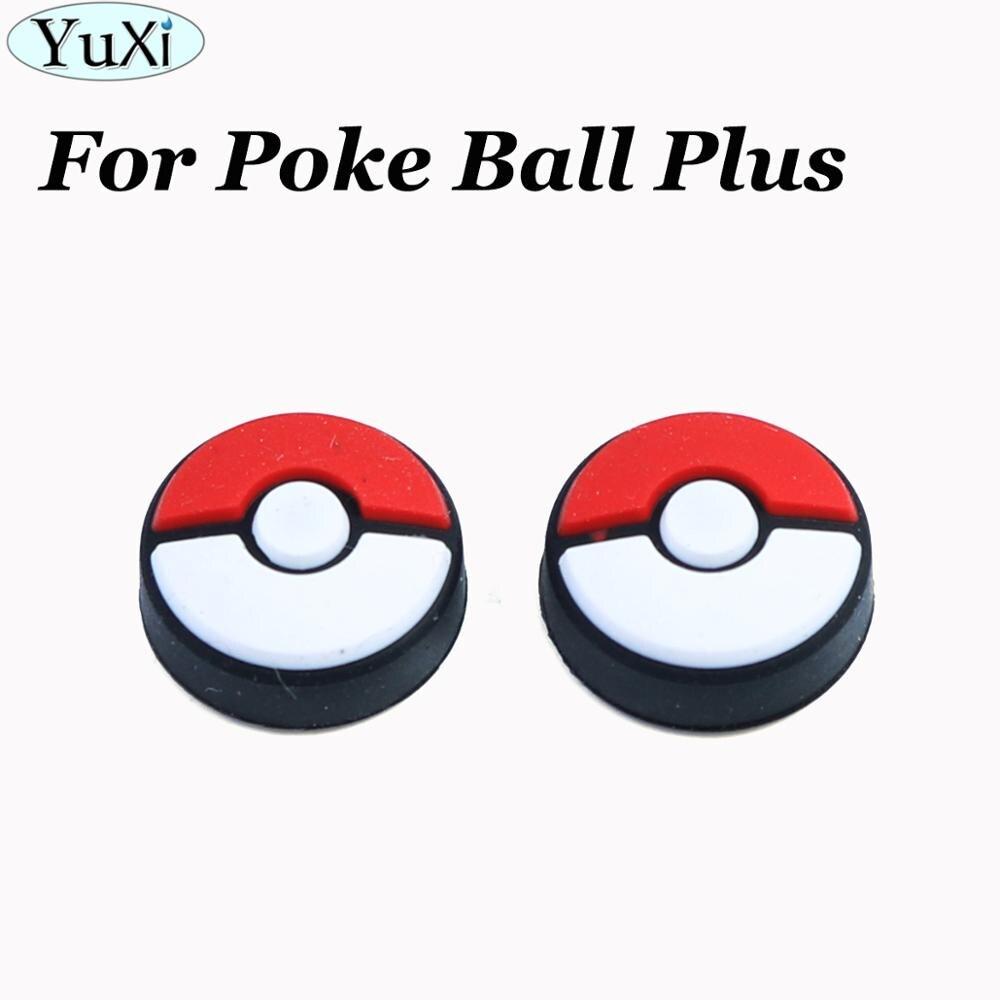 YuXi 2X Силиконовые аналоговые колпачки для большого пальца, крышка для переключателя, joycon для Poke ball Plus go аксессуары для игрового контроллера