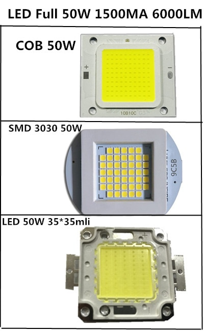 COB 4640 Real 50W 1500MA 6500LM 32V 35mli lámpara LED perlas de luz blanco frío cálido de alta potencia de buena calidad para las luces de calle