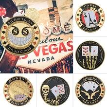 Wr 24 K Oro Casino Gioco da Tavolo Moneta da Collezione Chip Poker Card Guard Protegge Le Carte in Mano Doro collezione Regalo