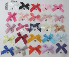 F0028 10mm satin Ribbon Bow tie 200pcs mix or choose color children clothes accessories craft/decorative