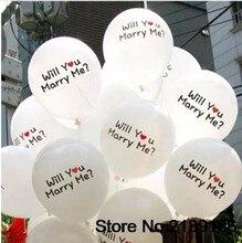 10 Stks/partij 12Inch Zal Je Met Me Trouwen Latex Ballon Zweven Lucht Ballen Opblaasbare Bruiloft Kerst Verjaardagsfeestje Decoratie Speelgoed