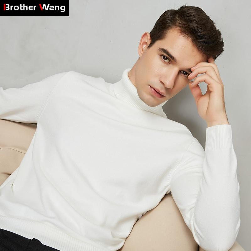 8 farbe Rollkragenpullover Männer 2020 Herbst Winter Neue Dicke Warme Slim Fit Einfarbig Pullover Weiß Pullover Männlich Marke rot Blau