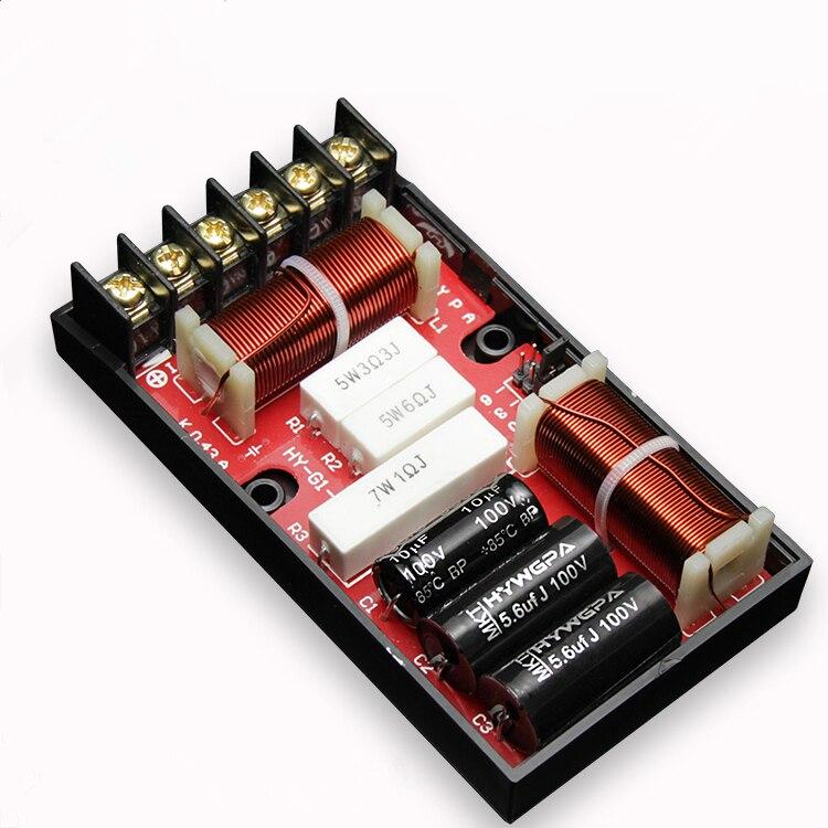 1 Uds. 2 vías divisor de frecuencia crossover HI-FI filtro tweeter/woofer 120W 4-8 ohm HY-G1 funda para amplificador de coche altavoz kasun