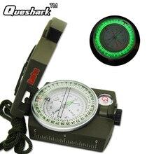 Boussole militaire Portable boussole prismatique Lensatic outils de Camping multifonctions en plein air avec lumière fluorescente