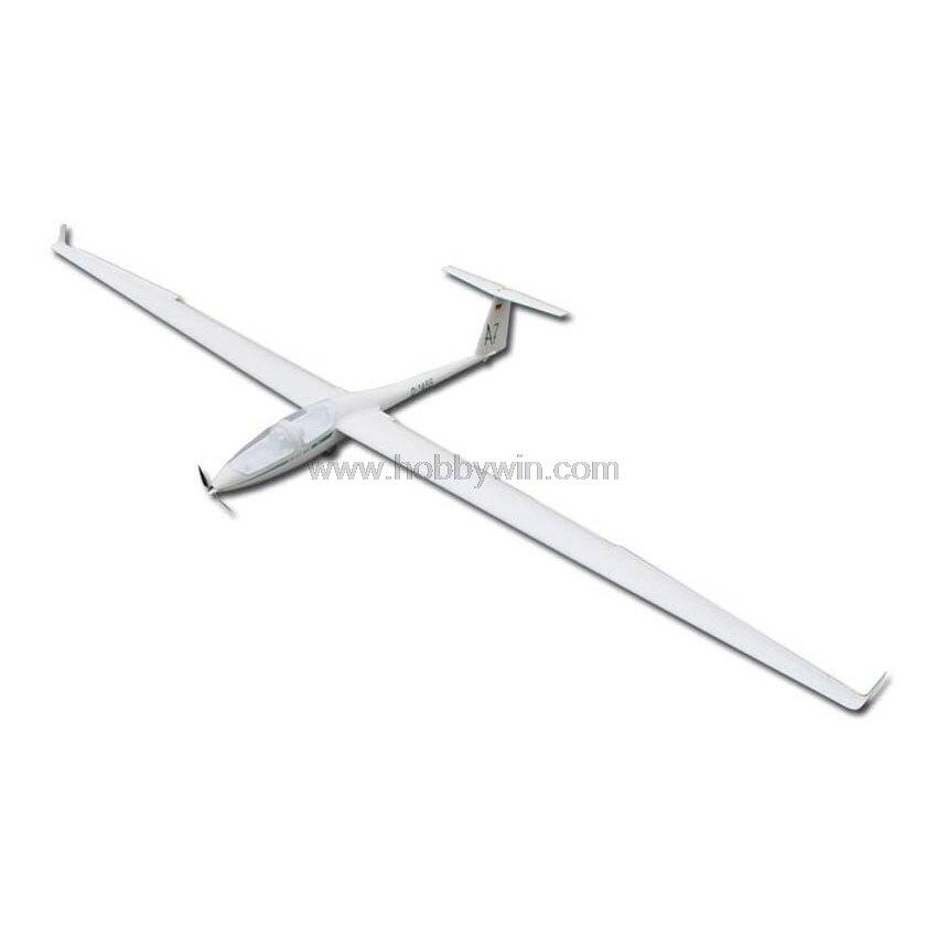 DG-505 planeador eléctrico de fibra de vidrio 2600mm del fuselaje de madera de Balsa ala modelo RC planeador