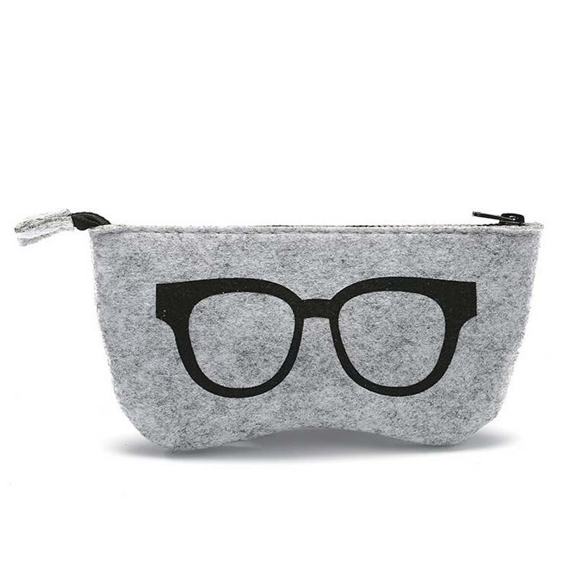 Pano de lã com pano macio nap sentiu caixas de óculos de sol de tecido de luxo caso óculos acessórios