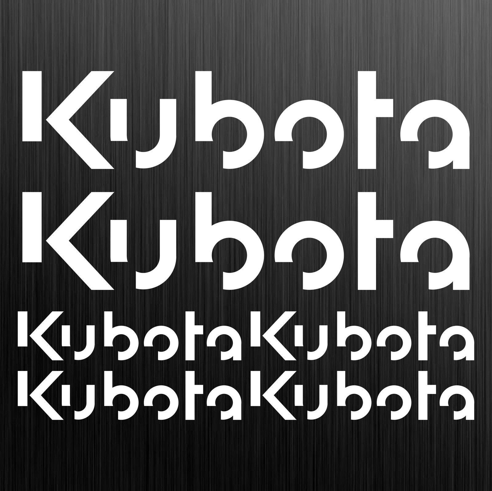 Para Kubota aufkleber de bagger excavadora minibager 6 etiqueta engomada de estilo de coche