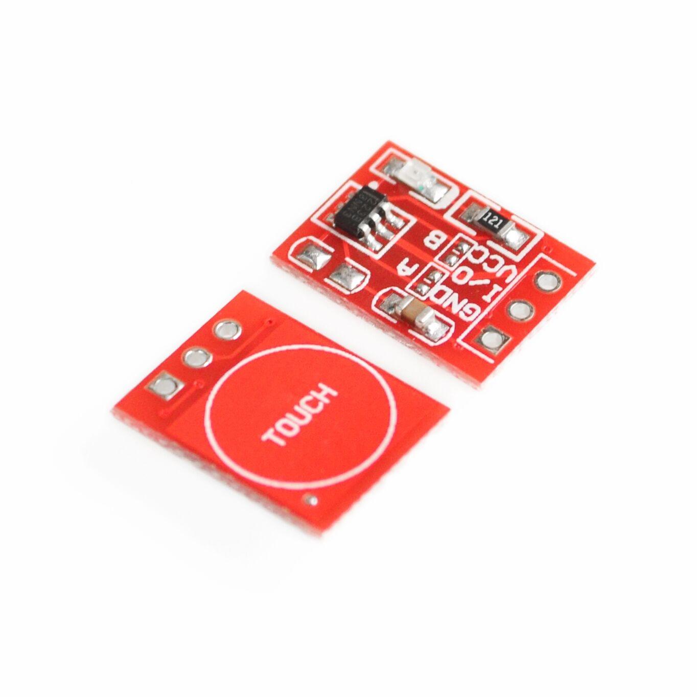 10 unids/lote nueva TTP223 Módulo de botón táctil Tipo de condensador de canal único auto bloqueo Touch sensor de interruptor de
