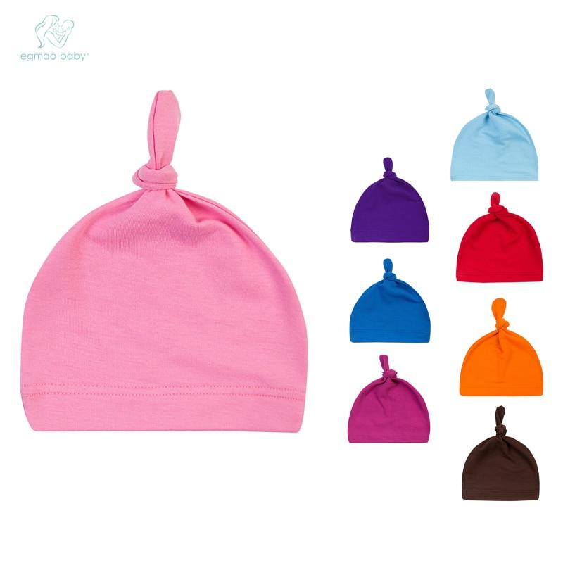 EGMAOBABY Новая удобная мультяшная Детская Хлопковая шапочка для сна, головной убор, милая шапка, Детская Органическая узелковая шапка мульт-цв...