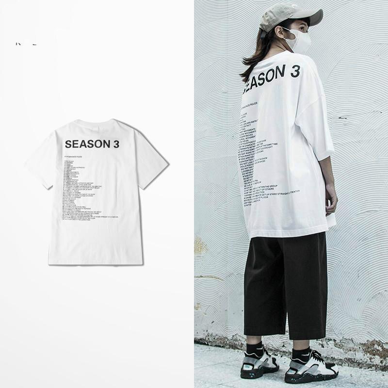 Nuevas camisetas Kanye West, temporada 3, camisetas de calle alta de Hip Hop para hombre, divertidas camisetas de calidad Kanye West